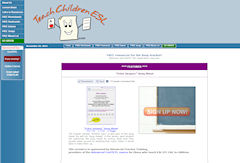 Teach Children ESL FREE Worksheets Flashcards Games Songs